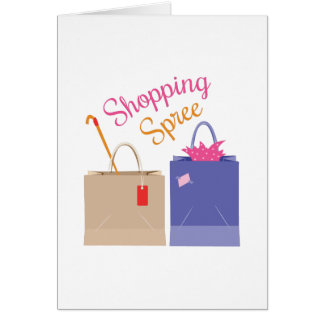 Shopping Spree Greeting Card