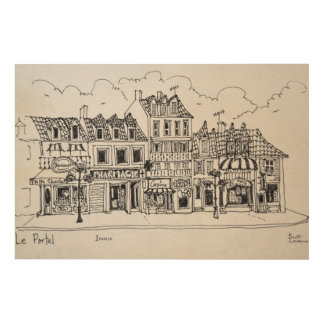 Shopping Street | Le Portel, France Wood Print