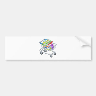 Shopping trolley books bumper stickers