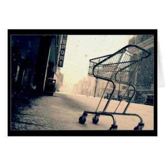 Shopping Trolley Cart Greeting Card
