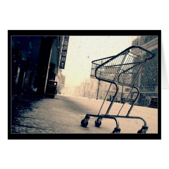 Shopping Trolley Cart Card