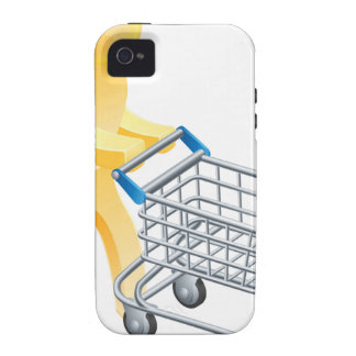 Shopping trolley gold man Case-Mate iPhone 4 case