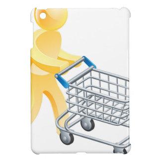 Shopping trolley gold man iPad mini covers