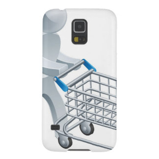 Shopping trolley silver person galaxy s5 cases