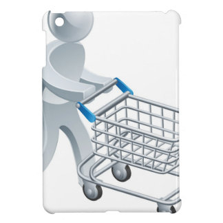 Shopping trolley silver person iPad mini case