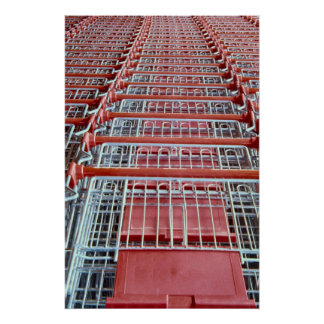Shopping trolleys poster