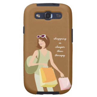 Shopping vs Therapy Samsung Galaxy S3 Case