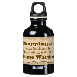"""Shopping with your husband......."" SIGG Traveller 0.3L Water Bottle"