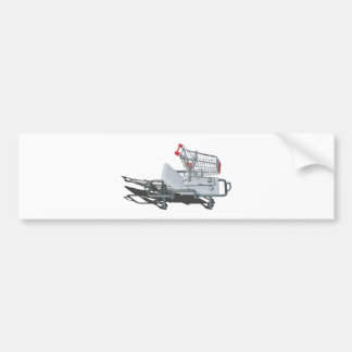 ShoppingCartOnGurney092715 Bumper Sticker