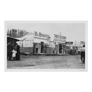 Shops in Anchorage, Alaska 1914 Posters