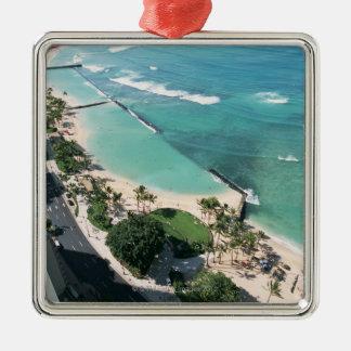 Shore 6 Silver-Colored square decoration