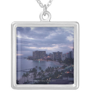 Shore 7 silver plated necklace