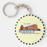Shore Fast Line Trolley Service Basic Round Button Key Ring