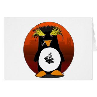 Shore Leave Penguin Greeting Card