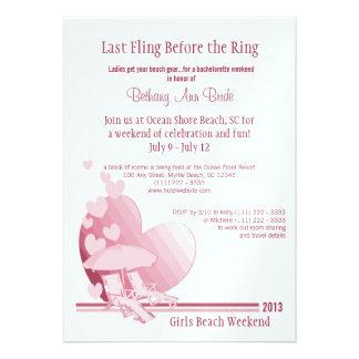 Shore Love Bachelorette Weekend Custom Invitations
