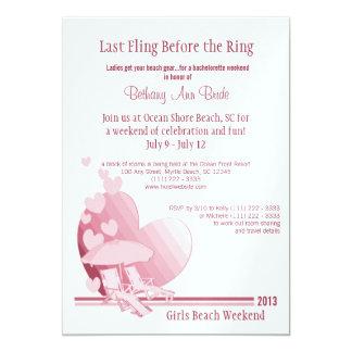 """Shore Love"" Bachelorette Weekend Custom Invitations"