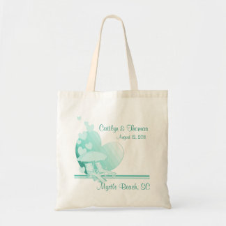 Shore Love/ Green Tote Bag