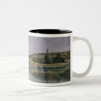 Shore of Lake Bourget Two-Tone Coffee Mug