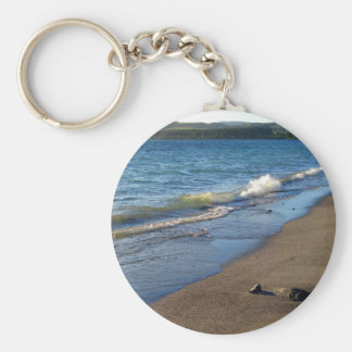 Shore of Lake Taupo, New Zealand. Key Ring