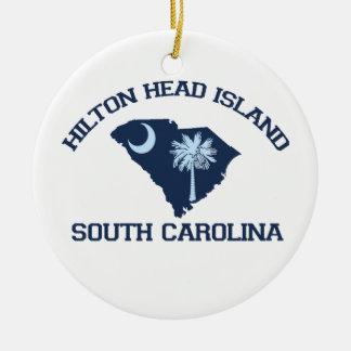 SHORE OVAL AHilton Head Island. Christmas Ornament