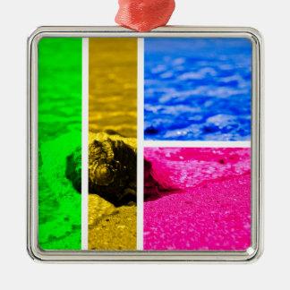 Shore Silver-Colored Square Decoration