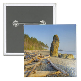 Shoreline and Seastacks, Ruby Beach, Olympic 15 Cm Square Badge