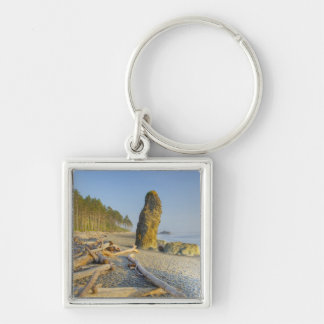Shoreline and Seastacks, Ruby Beach, Olympic Key Ring