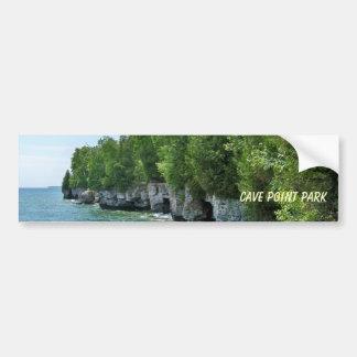 Shoreline of Cave Point Park, Wisconsin Bumper Sticker