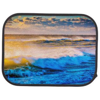 Shoreline scenic at sunrise car mat