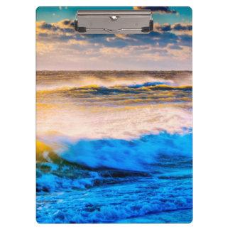 Shoreline scenic at sunrise clipboard