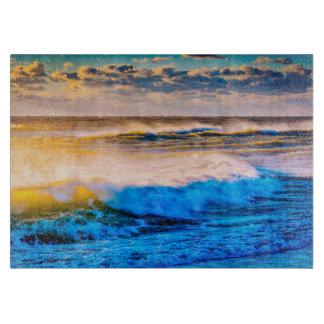 Shoreline scenic at sunrise cutting board