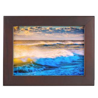 Shoreline scenic at sunrise keepsake box