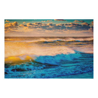 Shoreline scenic at sunrise wood wall decor