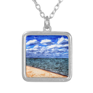 Shores of Lake Superior Personalized Necklace