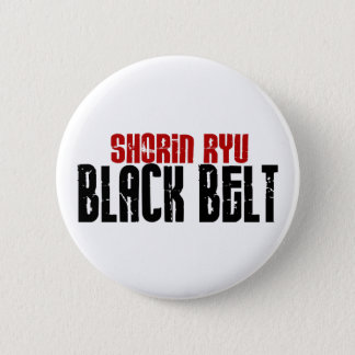Shorin Ryu Black Belt Karate 6 Cm Round Badge