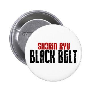 Shorin Ryu Black Belt Karate Button