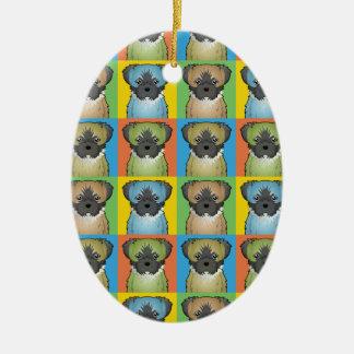 Shorkie Dog Cartoon Pop-Art Christmas Ornament