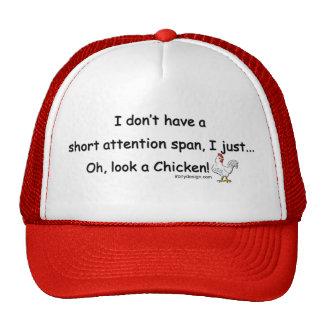 Short Attention Span Chicken Mesh Hat