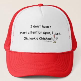Short Attention Span Chicken Trucker Hat