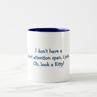 Short Attention Span Kitty Two-Tone Mug