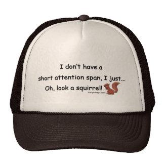 Short Attention Span Squirrel Cap