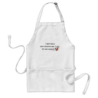 Short Attention Span Squirrel Standard Apron
