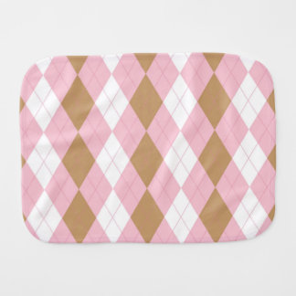 Short Cakes Argyle Burper Burp Cloth