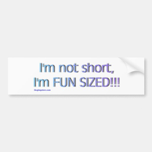 short_funsize bumper sticker