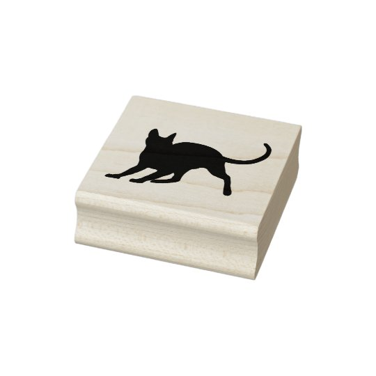 Short Hair Cat Rubber Stamp