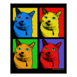 Short Haired Cat Pop Art By Request