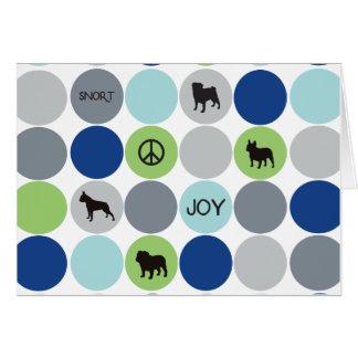 Short Nose Holiday Card - Blue