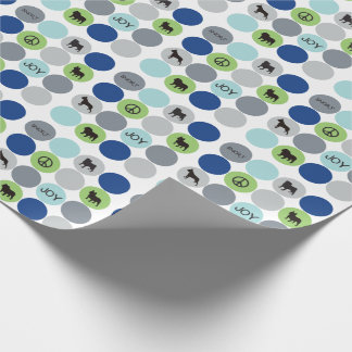 Short Nose Wrapping Paper - Blue
