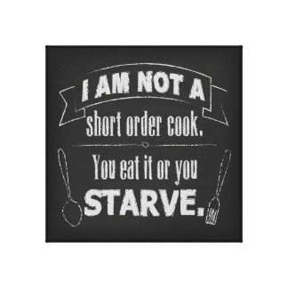 Short Order Cook Canvas Print