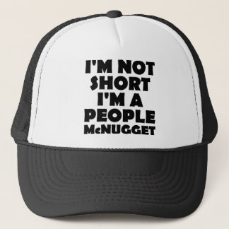 Short People Nugget Funny Ball Cap Trucker Hat